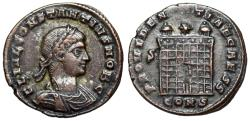 Ancient Coins - Constantius II campgate from Constantinople