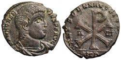 Ancient Coins - Magnentius SALVS DD NN AVG ET CAES from Amiens...Chi-Rho reverse