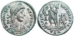 Ancient Coins - Constans FEL TEMP galley from Thessalonica