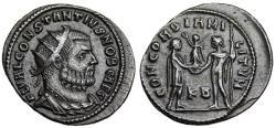 Ancient Coins - Constantius I CONCORDIA MILITVM from Cyzicus