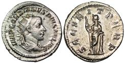Ancient Coins - Gordian III SECVRIT PERP; Securitas from Rome