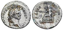 Ancient Coins - Domitian SALVS AVGVST…Foureé