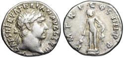 Ancient Coins - Trajan P M TR P COS IIII P P; Hercules from Rome