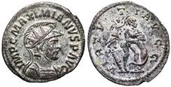Ancient Coins - Maximianus VIRTVTI from Lyons...Hercules strangling lion
