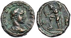Ancient Coins - Claudius II tetradrachm from Alexandria with Poseidon and dolphin
