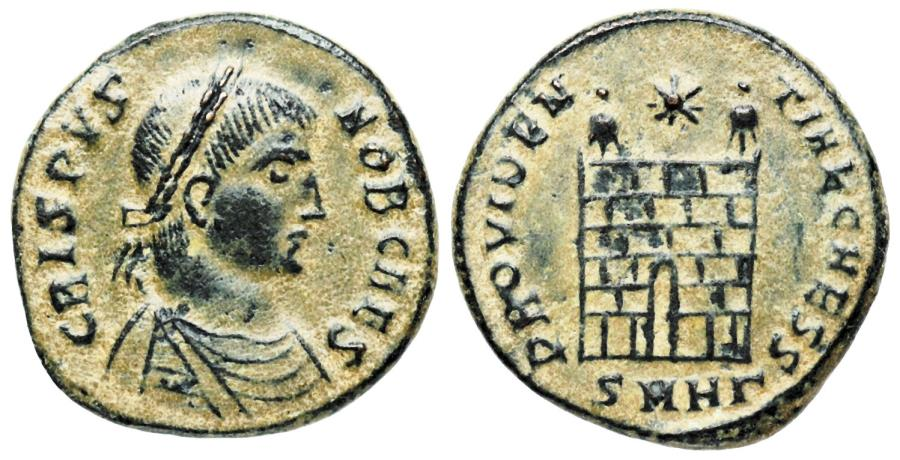 Ancient Coins - Crispus campgate from Heraclea