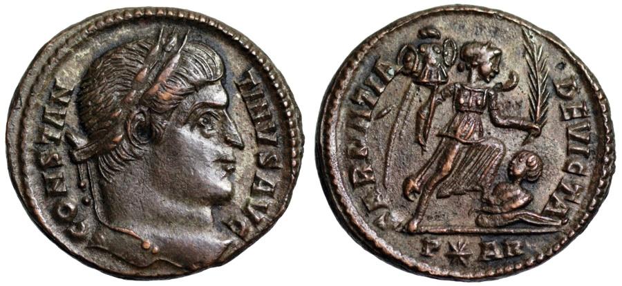 Ancient Coins - Constantine I SARMATIA DEVICTA from Arles