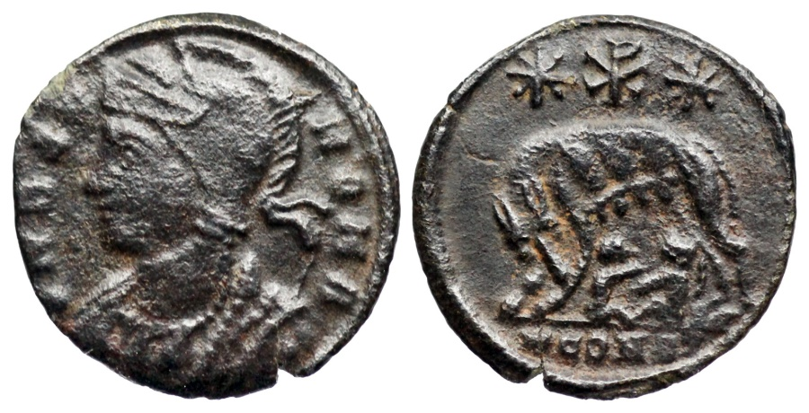 Ancient Coins - VRBS ROMA from Arles with Chi-Rho