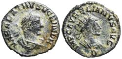 Ancient Coins - Vabalathus and Aurelian from Antioch