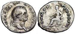 Ancient Coins - Vespasian PON MAX TR P COS VI; Pax from Rome