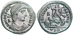 Ancient Coins - Constantius II FEL TEMP horseman from Thessalonica...minted under Vetranio