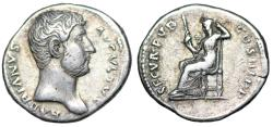 Ancient Coins - Hadrian SECVR PVB COS III P P; Securitas from Rome