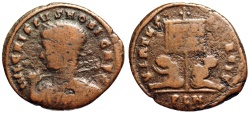 Ancient Coins - Crispus VIRTVS EXERCIT from London...Not in RIC