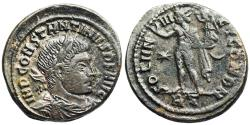 Ancient Coins - Constantine I SOLI INVICT COM DN from Rome...Sol holding victory