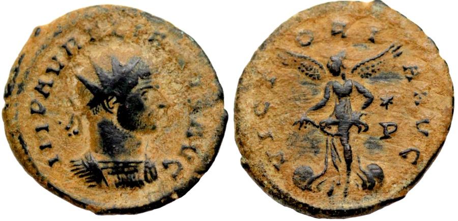 Ancient Coins - Aurelian VICTORIA AVG from Siscia