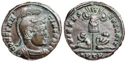 Ancient Coins - Constantine I VIRTVS EXERCIT trophy of arms from Trier
