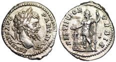 Ancient Coins - Septimius Severus RESTITVTOR VRBIS from Rome