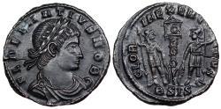 Ancient Coins - Delmatius GLORIA EXERCITVS from Siscia