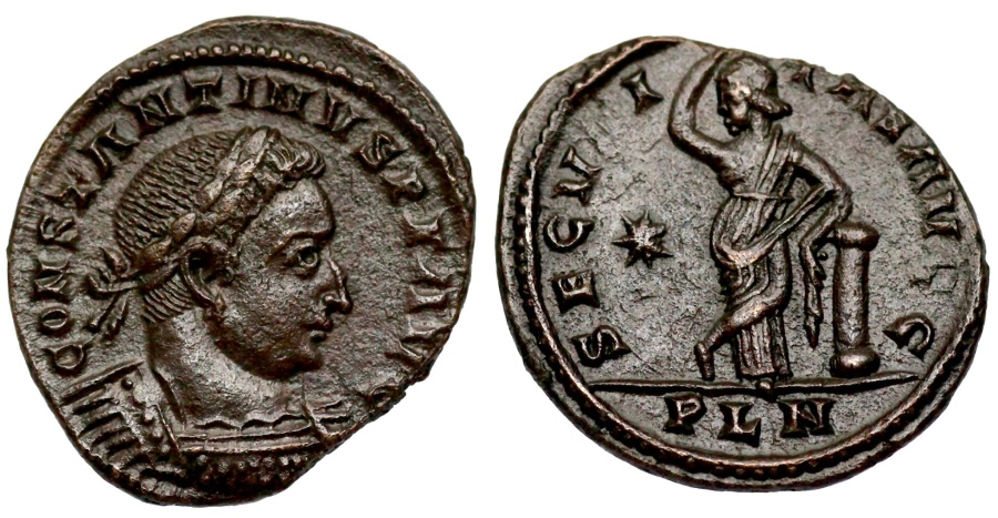 Ancient Coins - Constantine I SECVRITAS AVGG from London