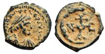 Ancient Coins - Justinian I pentanummium with monogram of Theoupolis (Antioch)