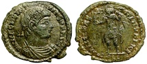 Ancient Coins - Magnentius FELICITAS REIPVBLICE from Lyons…looks like Constantine