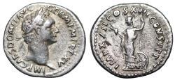 Ancient Coins - Domitian IMP XXII COS XVII CENS P P P; Minerva from Rome