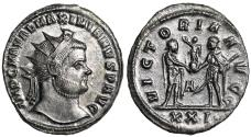 Ancient Coins - Maximianus VICTORIA AVGG from Siscia