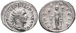 Ancient Coins - Philip I FIDES MILIT from Rome