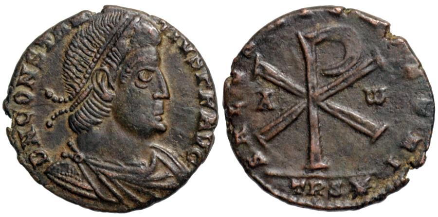 Ancient Coins - Constantius II SALVS AVG NOSTRI…Revolt of Poemenius