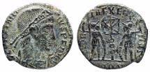 Ancient Coins - Constantius II GLORIA EXERCITVS from Aquileia with Chi-Rho…unofficial issue