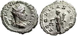 Ancient Coins - Volusian AEQVITAS AVGG from Rome
