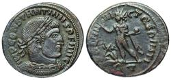 Ancient Coins - Constantine I SOL with captive from Rome...civil war coinage