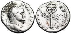 Ancient Coins - Vespasian PON MAX TR P COS V; caduceus from Rome