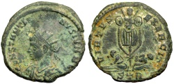Ancient Coins - Constantine II VIRTVS EXERCIT from Trier...captives with trophy