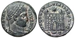 Ancient Coins - Constantine I campgate from Ticinum
