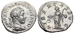 Ancient Coins - Elagabalus LIBERTAS from Rome
