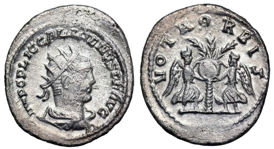 Ancient Coins - Gallienus VOTA ORBIS from Samosata