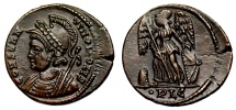 Ancient Coins - Constantinopolis Victory on prow from Lyons with fancy shield