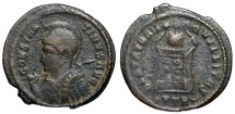 Ancient Coins - Constantine I BEATA from Trier with old ticket...Not in RIC