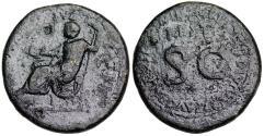 Ancient Coins - Restoration issue of Augustus struck under Titus