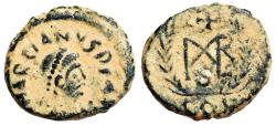 Ancient Coins - Marcian monogram in wreath from Constantinople