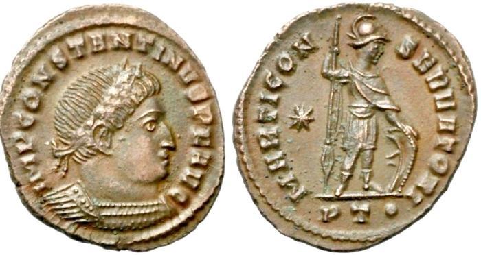Ancient Coins - Constantine I  MARTI CONSERVATORI from  Ticinum