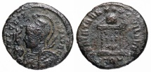 Ancient Coins - Crispus BEATA from Trier with engraved shield...Not in RIC