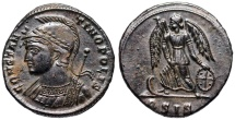 Ancient Coins - CONSTANTINOPOLIS from Siscia with decorated shield
