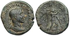 Ancient Coins - Philip I VICTORIA AVG sestertius from Rome