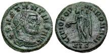 Ancient Coins - Constantius I GENIO POPVLI ROMANI quarter follis from Siscia