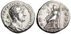 Ancient Coins - Hadrian P M TR P COS III Libertas LIB PVB denarius