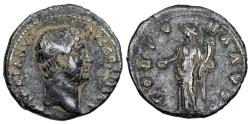 Ancient Coins - Hadrian FORTVNA AVG from Rome