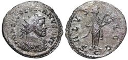 Ancient Coins - Diocletian SALVS AVGG from Lyons