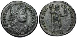 Ancient Coins - Jovian AE1 VICTORIA ROMANORVM from Thessalonica
